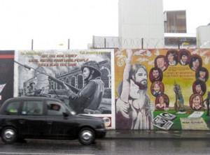 Black cab tour Murals Belfast