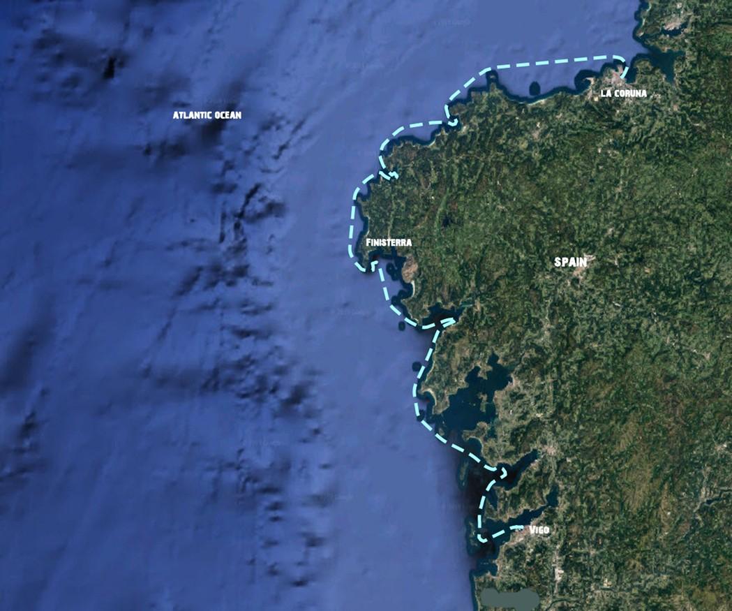Sailing holidays La Coruna-Vigo